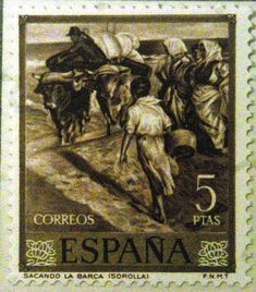 Sellos de España - Sorolla Postage Stamp Collection, Old Stamps, Postage Stamp Art, Stamp Collecting, Eagles, Postcards, Sport, World, Painting