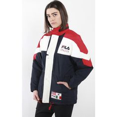 c34fb025c0897 Vintage Fila Puffer Jacket ( 40) ❤ liked on Polyvore featuring outerwear