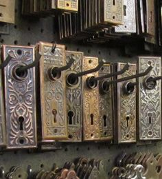 Salvage switchplates at Rejuvenation, Portland Oregon.