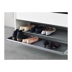 KOMPLEMENT Étagère à chaussures coulissante - gris foncé, 100x58 cm - IKEA