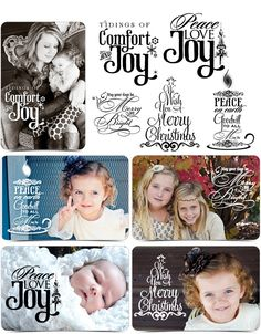 Word Art Collection - MERRY CHRISTMAS - (5) Custom Quotes for your Images and Designs. $14.99, via Etsy.