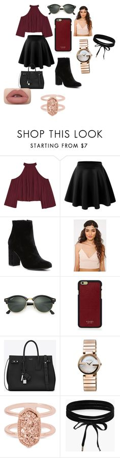 """""""👌🏽"""" by reign2005 ❤ liked on Polyvore featuring W118 by Walter Baker, Witchery, Ray-Ban, Vianel, Yves Saint Laurent, Gucci, Kendra Scott and Boohoo"""