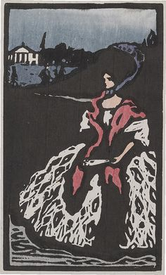 Collection Online | Vasily Kandinsky. Lady with a Fan (Dame mit Fächer). 1903…