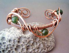 Bracelet Wire Wrapped Copper   Jewelry Handmade by GearsFactory, €16.00