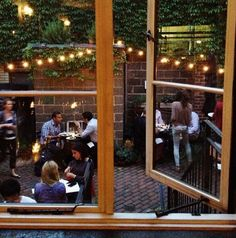 Hudson Clearwater, 447 Hudson Street, NYC -- West Village -- A Literally Hidden Gem in NYC -- Enter through the alley and the unmarked green door.