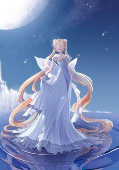 Browse princess serenity Usagi Tsukino Sailor Moon collected by Bela Yankiray Niemi and make your own Anime album. Sailor Moom, Arte Sailor Moon, Sailor Moon Fan Art, Sailor Moon Character, Sailor Moon Usagi, Sailor Moon Dress, Anime Body, Manga Anime, Anime Art