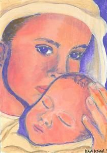 Madonna and Child - acrylic