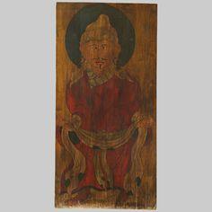 (Cod-0110) - Porta tibetana - dipinta su legno - XIX Sec. Tibet - H. 161 cm - L. 78 cm. -- info@orientalantiquesart.com
