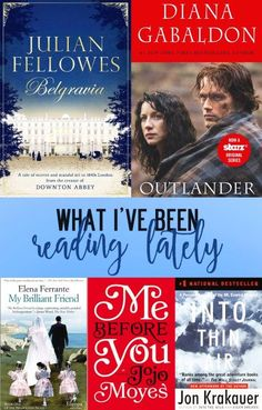 What I've been reading lately - Outlander, Me before you