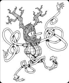 Noodle monsters!!! by Manuel Regalado, via Behance