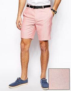 ASOS+Slim+Fit+Shorts+In+Oxford