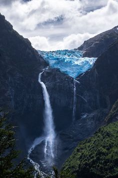 Hanging Glacier in Queulat National Park, definitely on the bucket list.