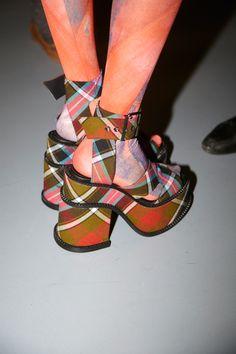 Vivienne Westwood tartan platforms for Gold Label AW12