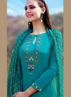Buy Blue color cotton Palazzo salwar kameez in UK, USA and Canada 1920s Fashion Women, Fashion Tips For Women, Womens Fashion, Cheap Fashion, Fashion 2018, Fashion Trends, Women's Dresses, Womens Clothing Stores, Clothes For Women