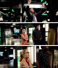 """""""It's really hot. I mean not, it's not"""" - Felicity, Curtis and Oliver #Arrow"""