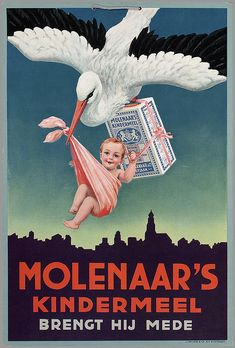 Soyouthinkyoucansee  He brings;  Molenaars Kindermeel   showkaart 1925/1950