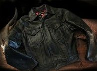 Absolutely Awesome! Tauber Vintage leather Truckers Jacket size 38 fits a size 40 US