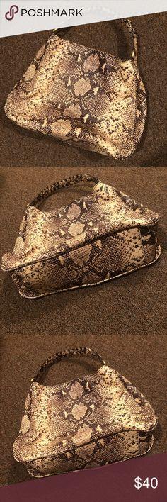 Talbots Handbag - Snakeprint Talbots Snake Print Bag - Like New Condition Talbots Bags Hobos