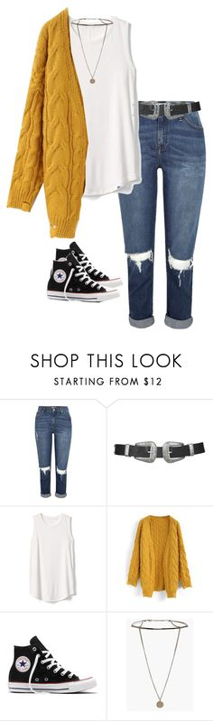 """Untitled #3083"" by officialnat on Polyvore featuring River Island, Topshop, Gap, Chicwish, Converse and Boohoo"