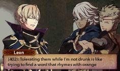 Fire Emblem Fates- Leon, Odin and Niles. Robin, Fire Emblem Radiant Dawn, Fire Emblem Games, Fire Emblem Characters, Fire Emblem Awakening, Best Waifu, Funny Games, Funny Comics, Video Games