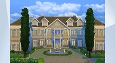 Check out this lot in The Sims 4 Gallery! - #classic #mansion #villa #big #family #celebrity #sexy #cute #nocc #modern #pool #gym #gotowork #maxis #sims4 #elegant #luxury #rich #famous