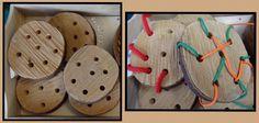 """Threading wooden discs from Rachel ("""",)"""