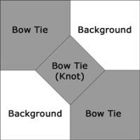 3D Bow Tie quilt block design great tutorial with math calculations to make any sized finished block.
