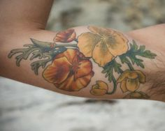 California Poppy Tattoo