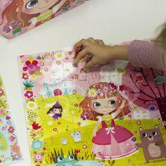 Dřevěné puzzle - Vilac - Květinová princezna - 54 dílů