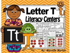 Letter of the week- Letter T Literacy Center Activities for kindergarten from KinderPrep from KinderPrep on TeachersNotebook.com (25 pages)  - This $1.50 package offers literacy center activities to help you teach the name and sound of the letter Tt.  This resource offers several no prep and prep required literacy centers for the letter T.