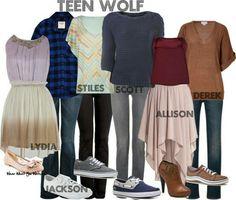 Lydia, Jackson, Stiles, Scott, Allison, Derek (Teen Wolf)