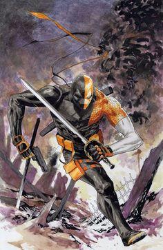 Deathstroke by Jomar Bulda Dc Deathstroke, Deathstroke The Terminator, Deadshot, Comic Book Characters, Comic Character, Comic Books Art, Comic Art, Dc Comics Art, Batman Comics