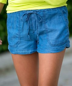 Another great find on #zulily! Blue Chambray Pocket Shorts #zulilyfinds
