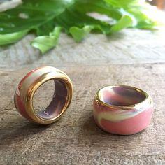 handmade porcelain rings by Australian maker Ruby Pilven