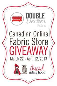Click here to enter to win 7 fat quarters of fabric! Giveaway post includes a 10% off coupon code!