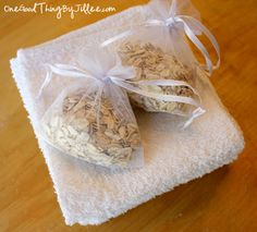 How to Make Your Own Oatmeal Shower Bags