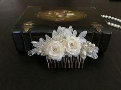 Bridal Hair Accessories Wedding Head Piece Ivory by alarastore