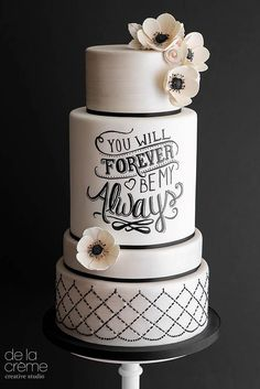 24 Most Amazing Wedding Cakes Pictures Designs ❤ If you want guest to talk about the cake long a&; 24 Most Amazing Wedding Cakes Pictures Designs ❤ If you want guest to talk about the cake long a&; Black And White Wedding Cake, White Wedding Cakes, Black White, Gay Wedding Cakes, White Weddings, Amazing Wedding Cakes, Amazing Cakes, Unique Wedding Cakes, Pretty Cakes