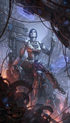 Mainly posting science fiction and fantasy stuff i find cool Arte Cyberpunk, Cyberpunk Girl, Cyberpunk Character, Cyberpunk 2077, Cyberpunk Fashion, Fantasy Anime, Arte Sci Fi, Steampunk, Sci Fi Armor