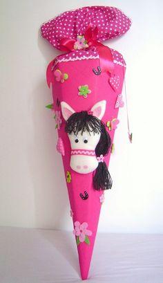 Schultüten - Schultüte*PONY*Pferd*pink*Zuckertüte*Schulanfang - ein Designerstück von Leas-Kinderwelt bei DaWanda