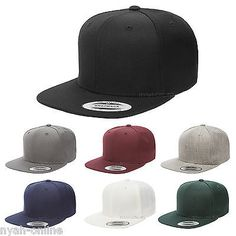 NEW  PREMIUM  SNAPBACK CAP BLACK PLAIN BASEBALL HIP HOP ERA FITTED FLAT  PEAK HAT  192c3184b