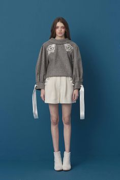 RC17T174 - (주) 로맨시크 ROMANCHIC Fashion Brand, Style Fashion, Swimwear Model, Boyish, Korean Fashion, Winter Fashion, Editorial, Feminine, Poses