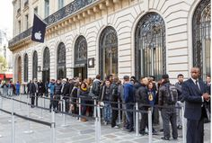 Outside the Apple Store in Paris