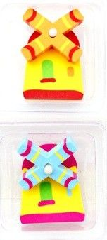Spencil Windmill Eraser Set