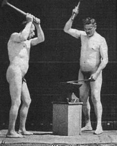 Friday 13th, 1896: in the Blacksmith Olympics, naked farrier work earned extra points due to the degree of difficulty.
