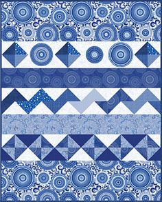 """Sinfonia Lap Quilt FREE Pattern Download-With pinwheels, a little applique, and half-square triangles, this fantastic row quilt is perfect for any novice quilter who wants to try out several different techniques in one, yet it goes together quickly. Backing: included to make a scrappy back. Techniques: piecing, applique Skill Level: easy 48-1/2"""" x 60-1/2"""""""