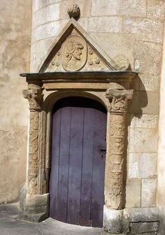 FRENCH RENAISSANCE,  Lalemont.Door.  1495-1506  French  Gothic (Late)     Bourges. Burgundy. France.