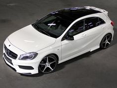 Carlsson unveils upgrade kit for Mercedes-Benz A-Class at IAA. Carlson presents the aftermarket kit for the new Mercedes Benz A Class during the Frankfurt Mercedes Benz Amg, Mercedes Auto, New Mercedes, Benz Car, Mercedes Hatchback, Classe A Amg, A45 Amg, Benz A Class, Amazing Cars