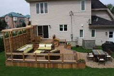 deck design with clearance to basement window