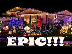 *** Best Christmas lights 2017!!!AWESOME MUSIC!!!